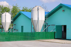 New modern pig farm. Exterior Stock Photos