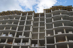 New modern residential building. New modern residential building under construction Royalty Free Stock Images