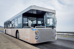 New modern shuttle bus. On the road Stock Images