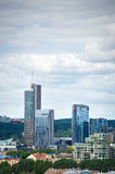 New modern skyscrapers in Vilnius Royalty Free Stock Photography