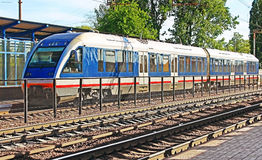 New modern train, Vinnytsia, Ukraine Stock Photography