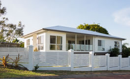 New modern two-storey house Royalty Free Stock Photo