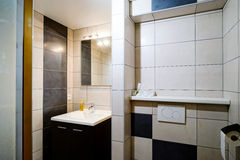 New modern wc with douche in apartment Royalty Free Stock Images