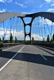The New and Moderne Bridge in Frankfurt East- Germany. The New and Moderne Bridge in Frankfurt East Stock Image