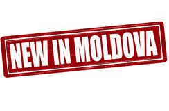 New in Moldova. Stamp with text new in Moldova inside,  illustration Stock Photography