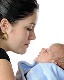 New Mom with Son Royalty Free Stock Image