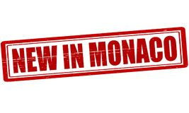 New in Monaco. Stamp with text new in Monaco inside,  illustration Royalty Free Stock Photo
