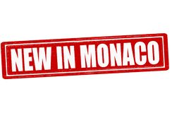 New in Monaco. Stamp with text new in Monaco inside,  illustration Stock Image