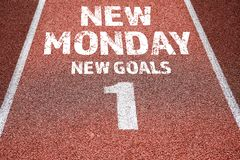 New monday, new goals concept stock images