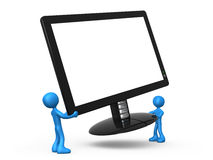 New Monitor Royalty Free Stock Photography