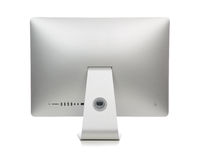 New monitor computer back side isolated Royalty Free Stock Photography