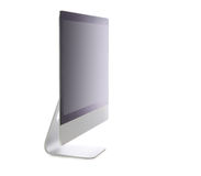 New monitor computer display side view Royalty Free Stock Image