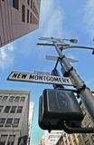 New Montgomery. Street Downtown Financial District San Francisco California Stock Images