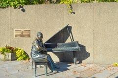 New monument honoring Canadian jazz stock photos