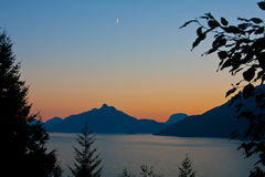 New_Moon. New Moon over Howe Sound Royalty Free Stock Image