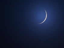 New moon or crescent Royalty Free Stock Photography