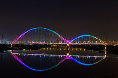 New moon bridge rainbow nice Royalty Free Stock Images