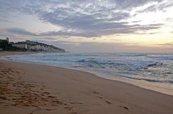 New Morning bij Umdloti-Strand, Durban Zuid-Afrika royalty-vrije stock foto