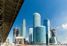 New Moscow City buildings Stock Photo