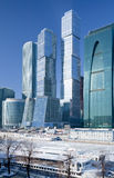 New Moscow City buildings in winter Royalty Free Stock Image