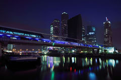 New Moscow City Business Complex At Dark Night Stock Photos