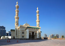 New mosque in Al Majaz Park. Royalty Free Stock Photos