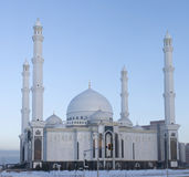 New mosque in Astana. On a evening Stock Images