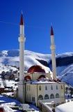 New mosque. Beautiful new mosque, Restelica village, Kosovo Stock Photo