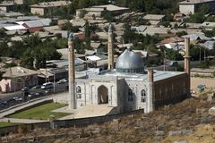 New mosque with cemetery in Osk Stock Image
