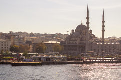 New Mosque in the centre of Istanbul turkey Royalty Free Stock Photo