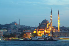 New Mosque in the evening, Istanbul, Turkey Royalty Free Stock Photo