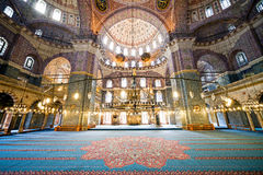 New Mosque Interior in Istanbul Royalty Free Stock Image