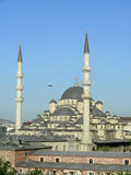New Mosque in Istanbul. The New (Yeni) Mosque in Istanbul, Turkey at evening sun stock photo