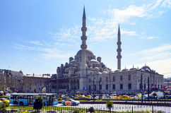 New Mosque Istanbul. Eminonu square Royalty Free Stock Photos