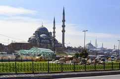 New Mosque Istanbul. Eminonu square Royalty Free Stock Image