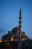 New Mosque in Istanbul Turkey at sunset Stock Photography