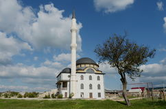 New mosque in the steppe region of the Autonomous Republic of Crimea. Royalty Free Stock Image