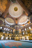 New Mosque Interior in Istanbul Royalty Free Stock Photo