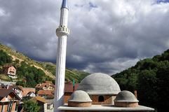 New mosque. Unfinished mosque in Krushevo village, Kosovo Stock Photography