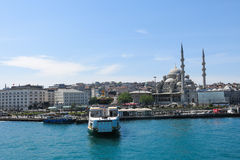 New Mosque (Yeni Cami) from the Bosphorus river Stock Image
