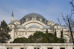 New Mosque - Yeni Cami in Eminonu district of Istanbul in Turkey. The New Mosque - Yeni Cami in Eminonu district of Istanbul in Turkey Royalty Free Stock Photography