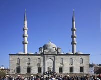 New mosque (Yeni Cami) in Istanbul. Turkey Stock Photography
