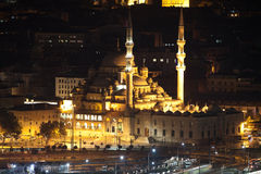 New Mosque Yeni Cami at night. Istanbul, Turkey. New Mosque at Night Yeni Cami. Istanbul, Turkey Royalty Free Stock Photography