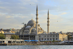 New Mosque (Yeni Cami) with sea water ,Istanbul,Turkey. Royalty Free Stock Photo