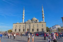 New Mosque (Yeni Cami) square Royalty Free Stock Images
