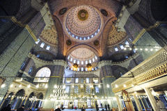 New Mosque, Yeni Camii. Interior of the New Mosque or Yeni Camii in Istanbul, Turkey Stock Images