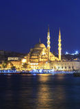 The New Mosque ( Yeni camii ) at night,Istanbul,Turkey. Stock Photo