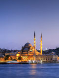 The New Mosque ( Yeni camii ) at night,Istanbul,Turkey. Stock Images