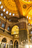 The New Mosque Yeni Valide Camii,  interior architecture in Istanbul, Turkey Stock Photography