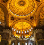 The New Mosque Yeni Valide Camii,  interior Stock Images